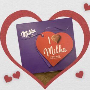 Milka chocolade hartjes